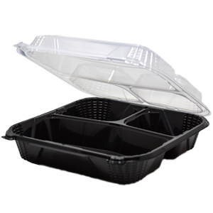 PV243CO - Medium, 3 Compartment Close-Off Container