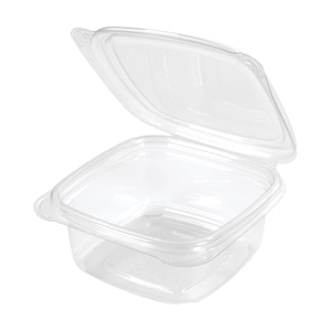 SD12 - 12 oz smooth wall clear hinged container