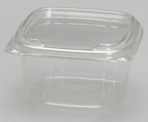 SD16 - 16 oz smooth wall clear hinged container