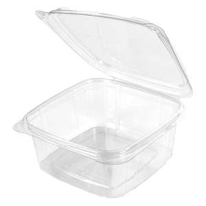 SD32 - 32 oz smooth wall clear hinged container (Not a stock item.  Minimums apply)