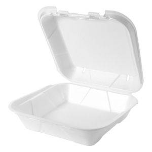 SN200-V - VENTED, Large Snap It Foam Hinged Dinner Container