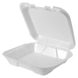SN220 - Small Snap It Foam Hinged Dinner Container