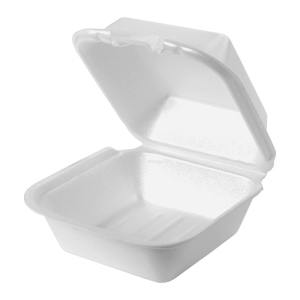 SN225 - Large Snap It Foam Hinged Sandwich Container