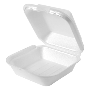 SN227 - Jumbo Snap It Foam Hinged Sandwich Container