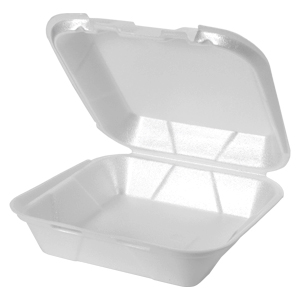 SN240 - Medium Snap It Foam Hinged Dinner Container