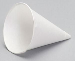W42FC - 4.5 oz. Rolled Rim Paper Cone Cup Caddy Pack. Fits ADJ15 Dispenser